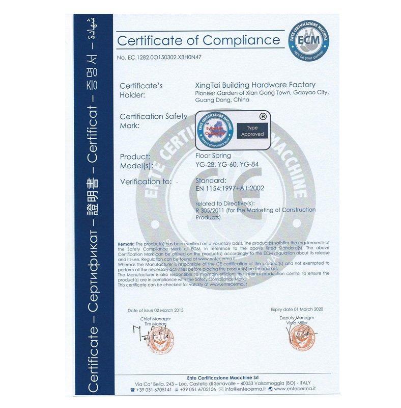 CE certificate 1