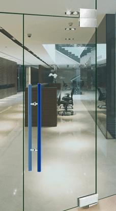 Glass door spring